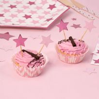 Little Stars Pink Cupcake Picks (20)